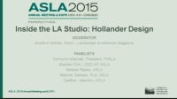 Inside the LA Studio with Hollander Design - 1.5 PDH (LA CES/HSW)