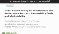 SITES®: Early Planning for Maintenance and Performance Furthers Sustainability Goals and Marketability - 1.5 PDH (LA CES/HSW)