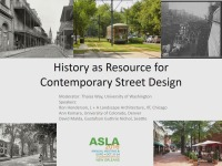 History as Resource for Contemporary Street Design - 1.5 PDH (LA CES/HSW)