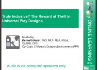 Truly Inclusive? The Reward of Thrill in Universal Play Designs - 1.0 PDH (LA CES/HSW)