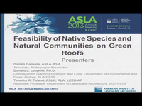 Feasibility of Native Species and Natural Communities on Green Roofs - 1.5 PDH (LA CES/HSW)