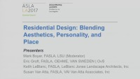 Residential Design: Blending Aesthetics, Personality, and Place - 1.5 PDH (LA CES/non-HSW)