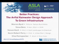 Better Practices: The Artful Rainwater Design Approach To Green Infrastructure - 1.5 PDH (LA CES/HSW)