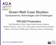 Green Wall Case Studies: Comparisons, Advantages, and Challenges - 1.5 PDH (LA CES/HSW)