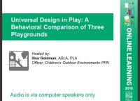 Universal Design in Play: A Behavioral Comparison of Three Playgrounds - 1.0 PDH (LA CES/HSW)