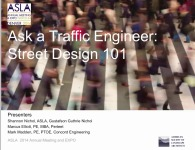 Ask a Traffic Engineer: Street Design 101 - 1.5 PDH (LA CES/HSW)